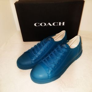 🎁 Coach Men's NIB Leather Low Top Sneakers Size 8